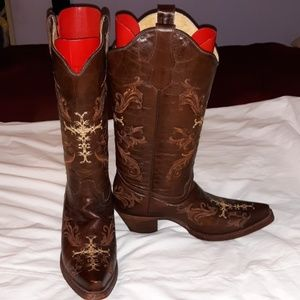 NEW Circle G Embroidered Cowboy Boots 8M